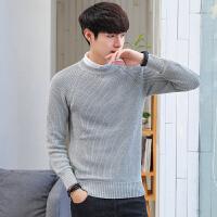 秋冬季男士毛衣纯色圆领修身套头针织衫韩版青年线衣潮保暖打底衫