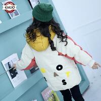 儿童棉衣2018新款冬季韩版中大童洋气棉服中长款女孩外套