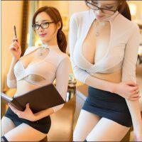 情趣内衣透明小胸秘书OL职业制服激情套装骚性感变态包臀诱惑睡衣