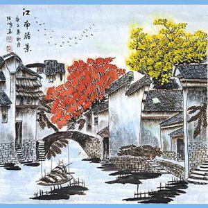 中国美协会员,中国书协会员,龙云书画院院长候桂峰(南方民居)3