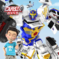 正版咖宝车神特警巨人四合体战神变形汽车玩具套装伽哈咔卡机器人