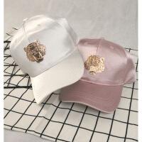 新遮阳帽微商棒球帽子女士新款老虎头图案棒球帽遮阳防晒鸭舌帽女 可调节