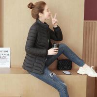 棉衣女短款2019冬季韩版时尚立领修身显瘦小棉袄轻薄大码 XL 105-115斤