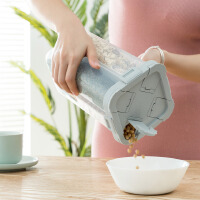 【爆款】四分格储物罐五谷杂粮收纳盒厨房米桶防潮密封罐豆子收纳罐