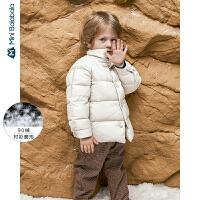 【限时1件6折 2件5折】迷你巴拉巴拉儿童羽绒服男童羽绒外套短款2019冬季新款保暖童装