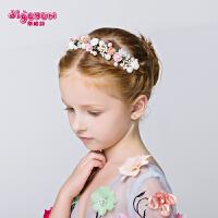 儿童发饰花仙子发箍头饰 公主皇冠 女孩饰品配饰手工发夹