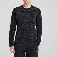 adidas阿迪达斯男装长袖T恤圆领跑步休闲运动服DH3976