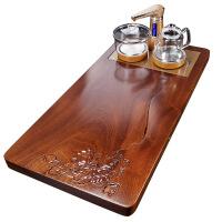 黑檀实木茶盘花梨茶台陶瓷紫砂功夫整套茶具套装家用全自动四合一 9件