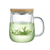 玻璃杯茶杯茶水分离带把手过滤泡茶杯办公室家用