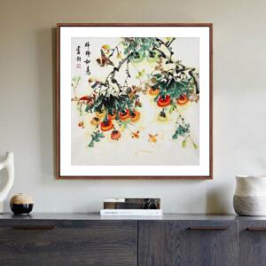 《柿柿如意》王富财 江西美协会员 中国书画家协会理事R3304