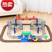 拖马斯小火车套装轨道积木拼装大型加油站男孩子儿童玩具定制 大型加油站轨道车
