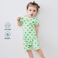 【119元任选2件】迷你巴拉巴拉婴儿爬服连体衣2020夏季女宝宝纯棉新生儿印花哈衣