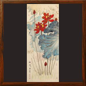 写意荷花《和气》张一娜 书画家协会一级美术师R3378