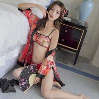 制服诱惑 性感cosplay日式和服制服诱惑旗袍款女仆装改良和服演出服