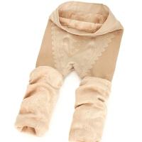 秋冬季假透肉打底裤女加绒加厚防勾丝透肉保暖九分袜踩脚光腿神器 均码