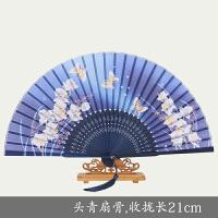 扇子 女 折扇日式和风樱花扇舞蹈扇古风女式扇子古典中国风6寸小扇子