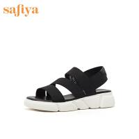 【券后价:199元】索菲娅2020专柜同款夏舒适低跟厚底运动风凉鞋后空女鞋SF02115402