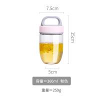 可爱玻璃杯子ins风耐热便携少女学生小水杯韩国清新森系创意网红