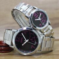 创意礼品时尚韩版男女情侣防水钢带手表对表送朋友生日礼物 要不同颜色可备注