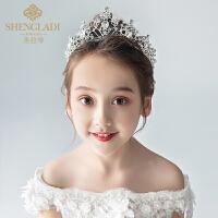 儿童皇冠头饰公主女童王冠水晶大发箍小女孩韩式生日发饰