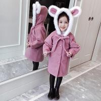 儿童毛呢外套秋冬2018新款韩版中长款呢子冬季女孩呢大衣