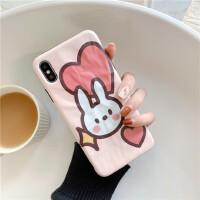 爱心小熊兔子iPhone11苹果x手机壳6s/7/8Pplus少女卡通XR Pro Max保护套xs情侣个性创意潮牌超萌