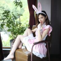 情趣内衣兔女郎套装性感甜美可爱空姐学生酒吧派对女制服 粉红色8件套 均码