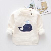 男女童毛衣套头童装秋冬款儿童线衣加绒加厚宝宝打底衫1-3岁婴儿
