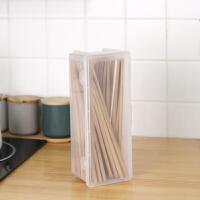 日本进口带盖筷子收纳盒刀叉勺餐具盒面条盒防尘厨房收纳盒保鲜盒