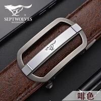 【1件5折】七匹狼 男士腰带商务休闲自动扣腰带