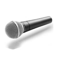 舒尔SM58S 专业人声动圈话筒(有开关) 舞台 演出 黑色 5米线