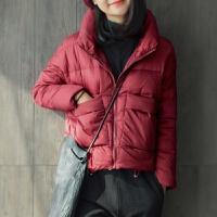 个性潮款高品质轻薄羽绒服女冬季韩版修身短款上衣羽绒外套 S【胸围 122 】
