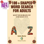 【中商海外直订】100+ Shaped Word Search for Adults: Keep you brain