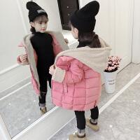 儿童棉衣2018新款冬季韩版中大童厚款棉袄外套女孩中长款