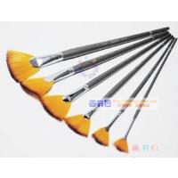 莫奈尼龙毛扇形笔 扇形油画笔 水粉 水彩扇形刷 伞形笔 6支装