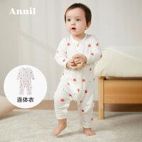 【活动价:88】安奈儿婴儿服连体衣新生儿衣服宝宝哈衣爬行服外出