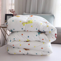 全棉�和�冬被�稳颂�空被子6斤冬季加厚保暖1.5米卡通�W生宿舍被芯