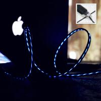 同款 苹果数据线 iPhoneX混光充电线 安卓type-C 手机夜光发光流光灯 充电抖音 流光蓝 安卓micro
