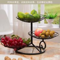 客厅水果盘三层创意时尚简约现代干果盆多层果篮收纳糖果零食盘