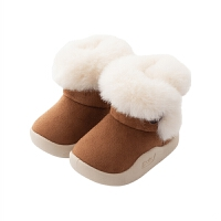男女宝宝冬鞋加绒鞋短靴2018新款棉靴儿童雪地靴筒短靴子