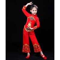 高粱颂红高粱九儿舞台古典舞服秧歌服儿童民族舞蹈服装国民演出服
