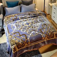 珊瑚绒毯子冬季加厚法兰绒拉舍尔毛毯男单人保暖女冬用被子双层 200cmx230cm约9斤