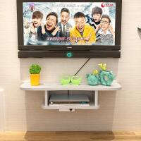 客厅卧室机顶盒置物架壁挂电视背景墙上柜隔板路由器收纳免打孔