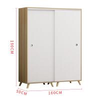 简约现代简易衣柜推拉门经济型实木家具定制卧室出租房组装柜