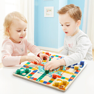【当当自营】特宝儿 早教益智双面棋盘游戏儿童玩具