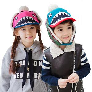 KK树儿童冬天帽子男童女童秋冬帽子小孩加绒保暖帽潮