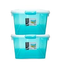 加厚塑料收纳箱衣服玩具塑料整理箱大中小号储物箱周转箱