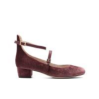 【10.23网易严选大牌日 2件3折】女式韩国绒羊皮搭带粗跟鞋