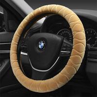 汽车方向盘套冬季短毛绒把套通用型车用冬天保暖代大众日产