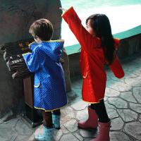 kocotree男女儿童雨衣时尚可爱连体雨具套装宝宝户外雨披雨衣轻薄款